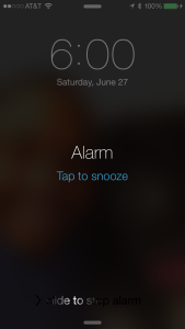 I may have tapped for the Snooze option